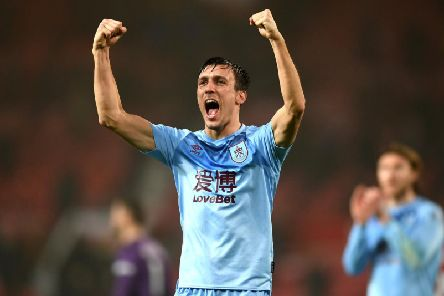 Clarets midfielder Jack Cork following victory over Manchester United at Old Trafford