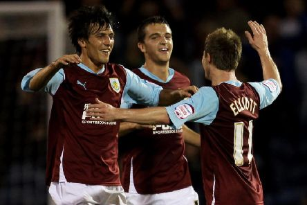 Jack Cork, Jay Rodriguez and Wade Elliott