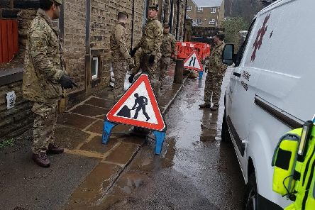 The 4th Infantry were present in Calderdale during the weekend in preparation for Storm Dennis (1)