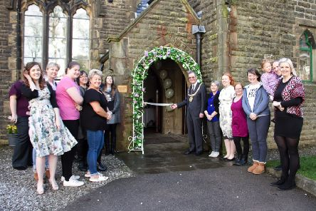 Growing business: Todmorden Mayor, Councillor Andy Hollis, opened the wedding fayre.