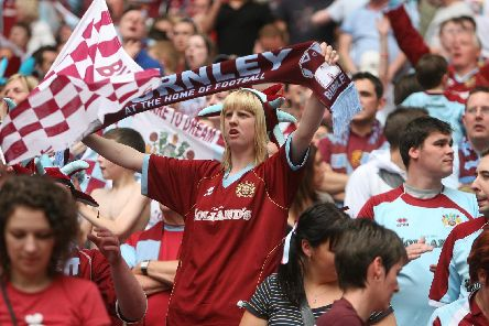 Tens of thousands of fans were inside Wembley Stadium to see the Clarets gain promotion to the Premier League
