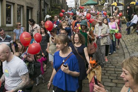 Busy: The Heptonstall Festival will bring in the crowds.