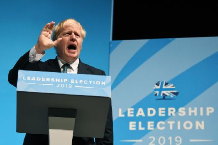 Tory leadership hopeful Boris Johnson