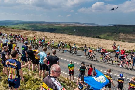 The Tour de Yorkshire traveled up and long the A6033 from Hebden Bridge in 2018. Picture: James Hardisty