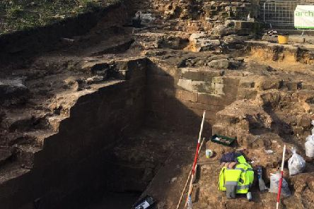 The project focuses on excavating the former gatehouse at the castle, which is opposite the Castles cafe entrance.