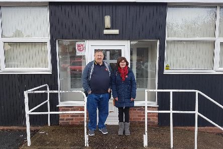 Les Clarke, from the Salvation Army, and local councillor Gill Cruise, who are both setting up the new community hub.