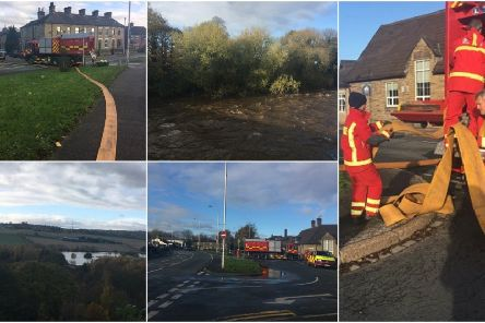 Flooding scenes from across Wakefield including Horbury Bridge and Quarry Hill.