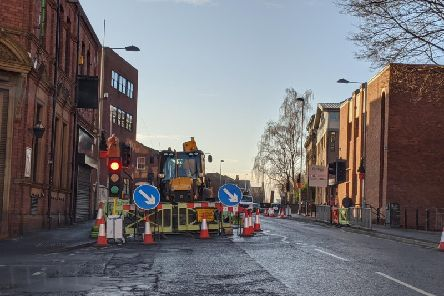 Delays on a city centre road are expected to continue, as roadworks are carried out.