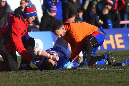 Craig Huby has suffered a suspected dislocated shoulder. PIC: Jonathan Gawthorpe.