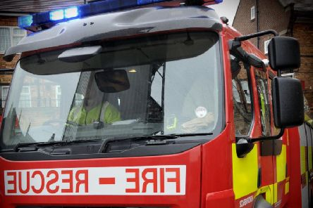 A fire crew attended a fire in Castleford town centre last night.