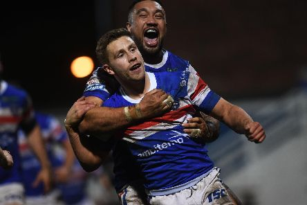 Kyle Wood scored twice during Wakefield's Trinity's narrow loss against Warrington Wolves. PIC: Jonathan Gawthorpe.