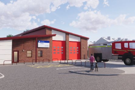 An artist's impression of the new Wakefield Fire Station.