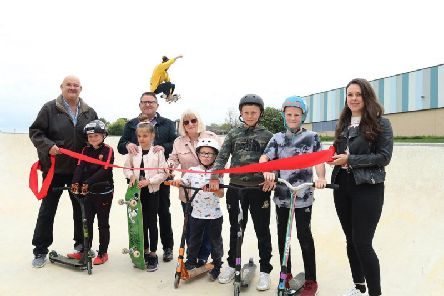 The skate park was officially opened.