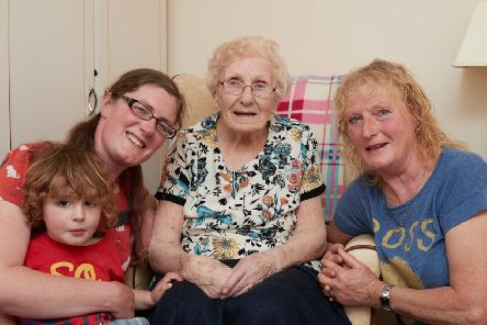 Margaret Hammond with her family.