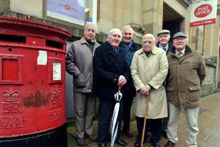 Pictured is Sir Bill O'Brien - secretary of Pontefract Town Centre Partnership, with fellow members.