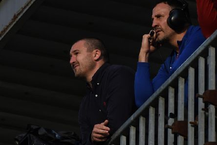 Wakefield Trinity head coach Chris Chester with assistant Lee Gilmour. PIC: Matthew Merrick.
