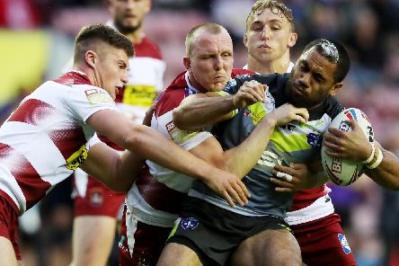 Action from Wigan Warriors v Wakefield Trinity. PIC: SWPix.com.