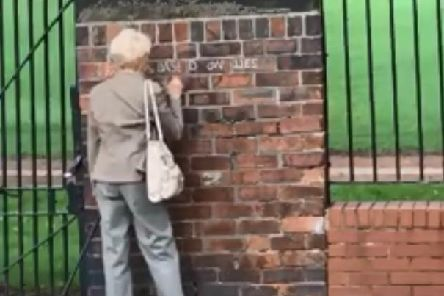 Hazel Jones, 71, has now admitted responsibility for the messages.