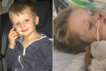 OliverQuirke hasbeen diagnosedwith acute flaccid myelitis, which affects the spinal chord and has left him paralysed from the waist down.