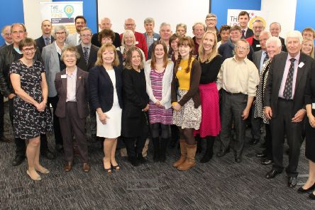 Friends of THE LOCAL FUND with the first grant recipients. Plans are underway to boost the fund for 2019.