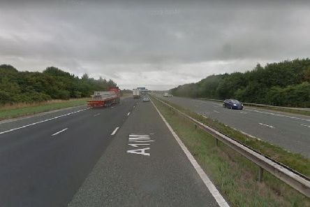 The A1(M), North Yorkshire, near Allerton Park. Picture: Google.