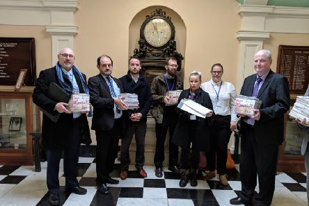 Staff and parents from the PRS handed a petition with 5,000 signatures to Coun Patrick Mulligan, Executive Member for Education at NYCC at the meeting of the Executive in January.