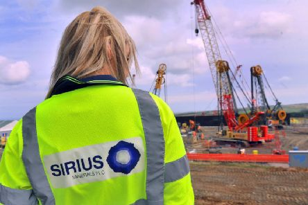A member of staff of Sirius Minerals at the Woodsmith site near Whitby. Pic: Gary Longbottom