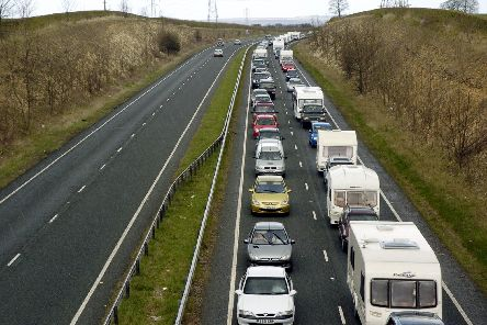A familiar site on the A64 - traffic queuing towards the coast. PIC: Andrew Higgins