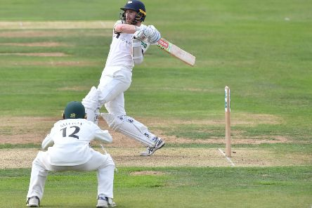 Yorkshire's Kane Williamson scores at Scarborough (Picture: Simon Wilkinson/SWPix.com)