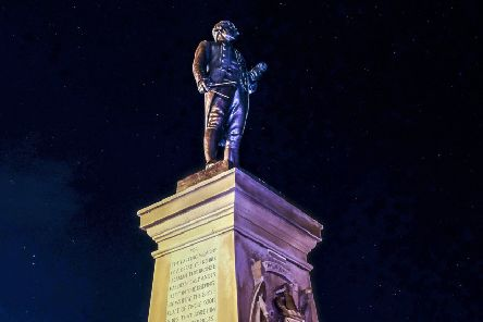 The Captain Cook monument with the starlit skies behind high on the West Cliff at Whitby. ''Picture: Tony Bartholomew
