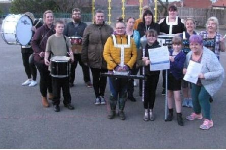 A donation of £200 was made to Whitby Seaside Community Marching Band.