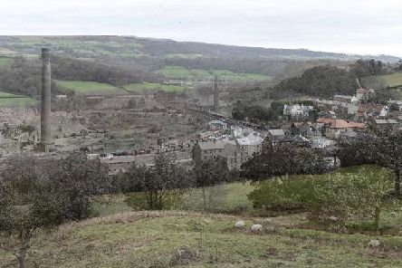 View of two merged images of Grosmont from then and now.