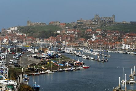 Whitby Abbey, harbour, river Esk..  Picture Tony Johnson.