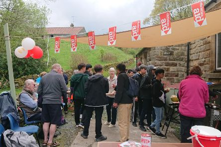 Sleights Area Men's Shed's fourth Sausage Sizzle raised funds for Christian Aid.