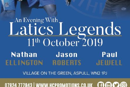 HC Promotions presents An Evening With Latics Legends  at The Village On The Green, Aspull, on Friday, October 11