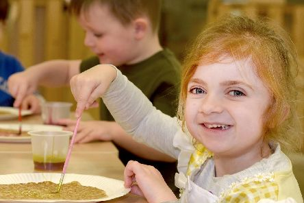 Pupils from Hope School and College, Marus Bridge, enjoy activities including pancake making and pancake painting.
