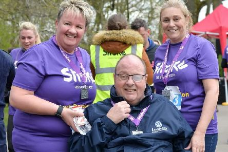Sharon Dickinson (left) with her husband Shaun, of Coppull, and friend Wendy Speakman, at the Resolution Run in Blackpool'ABNM Photography
