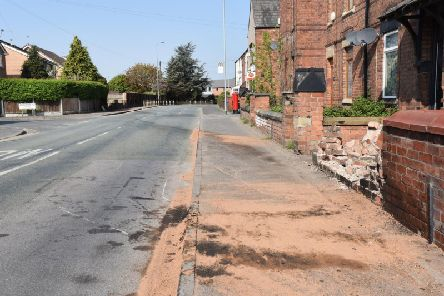 The scene of a fatal collision in Bickershaw Lane