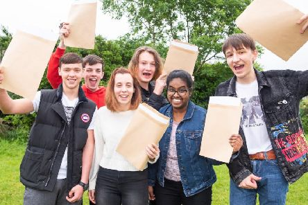 St John Fisher High School pupils celebrate their GCSE results