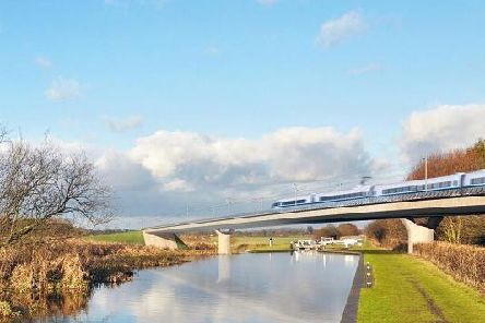An artists impression of what the HS2 line could look like