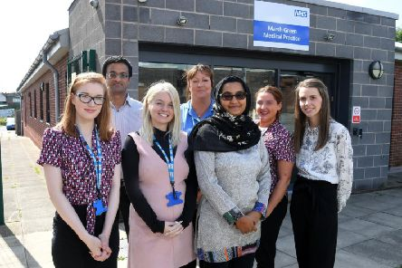 Staff at Marsh Green Medical Practice