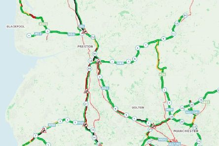 Congestion is starting to build across the Lancashire/North West network