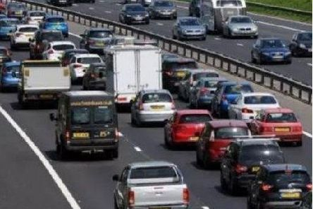 Traffic is building up on the M6