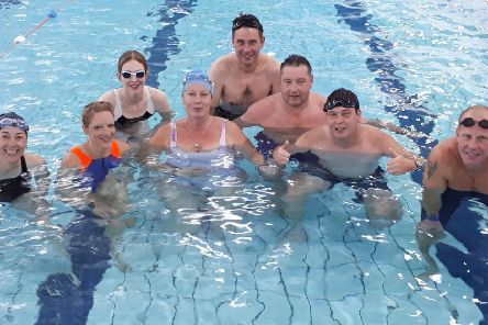 The graduates from Bassetlaw Triathlon Club's beginners-to-freestyle swimmers course.
