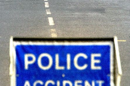 A motorcyclist has been taken to hospital