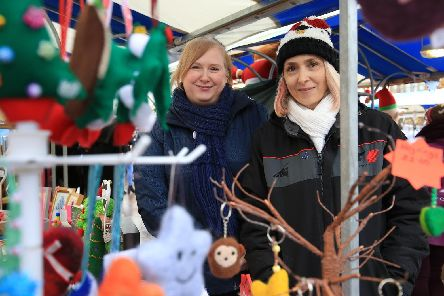 Claire Shead and Sarah Wilson at the Artisan and Craft Market in Mansfield in 2017. Picture: Chris Etchells