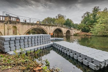 The Ornamental Bridge is being restored at Clumber Park. Picture: Darren Prince