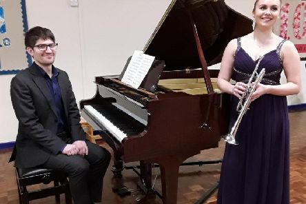 Matilda Lloyd and Leo Nicholson were on fine form in their Tickhill concert
