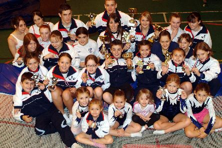 2007: This fabulous group shot features Worksop Trampolining Club proudly displaying their numerous awards. Are you on this picture?