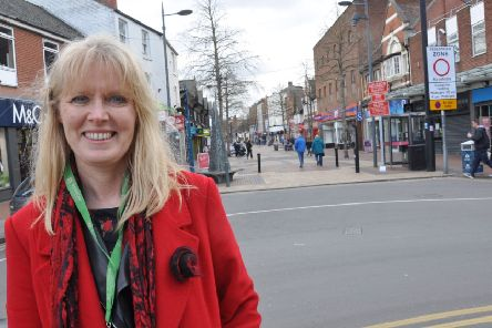 Coun Jo White, who is keen to win more funding for Worksop's town centre.